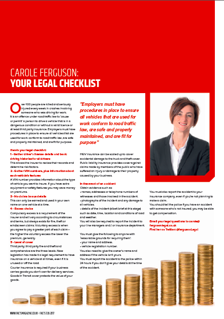 insurance legal checklist