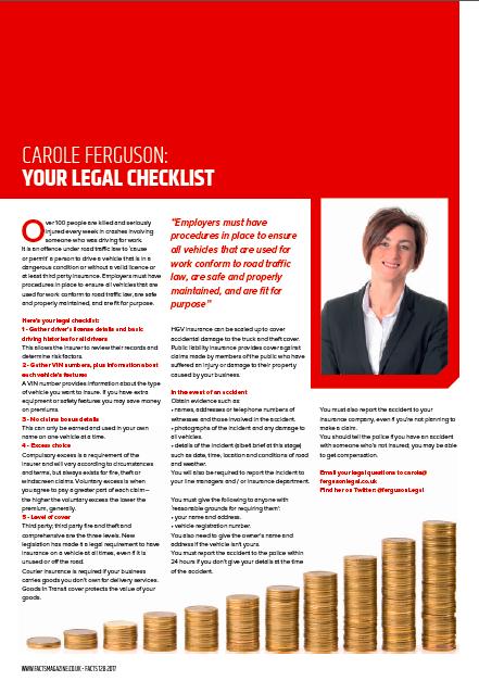 insurance legal checklist